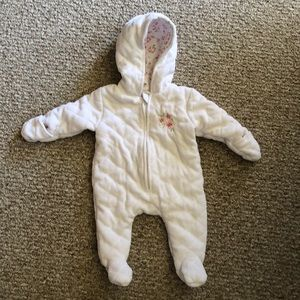 Laura Ashley Baby quilted snowsuit 0-3